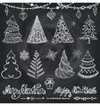 Christmas tree ballsdecorwishesChalkboard vector image vector image