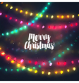 Cozy colorful Christmas lights garlands vector image