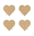 Craft paper hearts cut outs vector image vector image