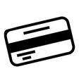credit card bank icon simple style vector image