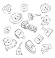 cute items for clean up vector image vector image