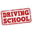 driving school stamp vector image