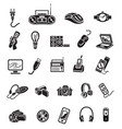 electronics icon set black sign on white vector image