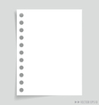 Empty message white papers vector image vector image