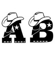 english alphabet letter a and b vector image