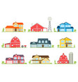 flat icon suburban american house vector image vector image