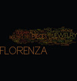florenza vintage jewelry designer text background vector image vector image