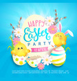 happy easter party invitation card vector image vector image