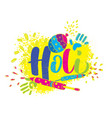 happy holi indian festival colors vector image