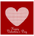 happy valentines day card with red pattern vector image vector image