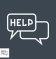 help thin line icon vector image