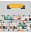 Industry background with industrial power plants vector image vector image