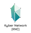 kyber network knc crypto c vector image