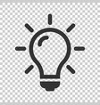 light bulb icon in flat style lightbulb on vector image