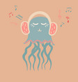 lovely with a jellyfish vector image vector image