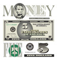 Money 5 Dollar vector image
