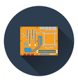 Motherboard icon vector image