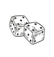 pair of dice lying with four and five on top side vector image