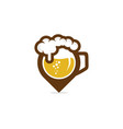 point beer logo icon design vector image