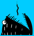 predatory fish and the worm vector image