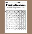 preschool math worksheets missing numbers 1