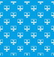 purchase at online store through computer pattern vector image vector image