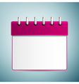 Purple calendar icon isolated on blue background vector image vector image
