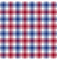 Red blue white check texture seamless pattern vector image vector image