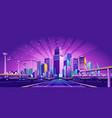 road to big city vector image vector image