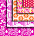 set Purple abstract pattern vector image vector image