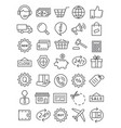 shopping line icons vector image vector image