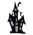 silhouette a mystical castle vector image vector image