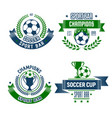 soccer ball and trophy icon for football sport bar vector image vector image