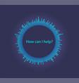 sound circle wave vector image