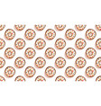 sweet donutscolorful glazed pastries seamless vector image