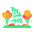 the big autumn sale for 90 percent vector image vector image