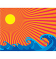 The Sun and Sea curly waves vector image vector image