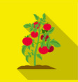 tomato icon flat single plant icon from the big vector image vector image