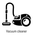 vacuum cleaner icon simple black style vector image vector image