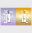 woman skin care products vector image