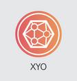 xyo blockchain cryptocurrency xyo element vector image