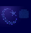 crescent with a star symbol of islam vector image