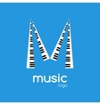 minimalistic music piano logo Music trendy vector image