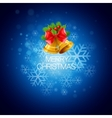 Christmas background with bells vector image