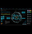 futuristic interface hud design infographic vector image