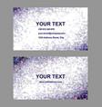 Purple triangle mosaic business card design vector image