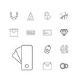 13 gift icons vector image vector image