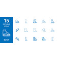 15 boot icons vector image vector image