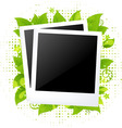 2 blank photos vector image vector image