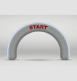 3d inflatable start line arch vector image vector image